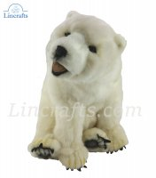 Soft Toy Polar Bear by Hansa (32cm) 3935