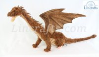Soft Toy Sitting Dragon by Hansa (72cm) 6538