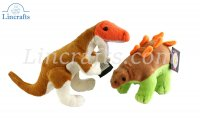Pair of Dinosaurs by Dowman Soft Touch. (28cm ) RBL504 & RBL506
