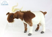 Soft Toy Brown & White Billy Goat by Hansa (48cm) 4624