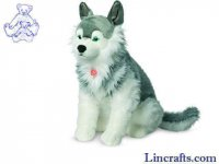 Soft Toy Dog, Husky by Teddy Hermann (60cm) 92795