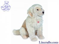 Soft Toy Dog, Golden Retriever by Teddy Hermann (70cm) 92799