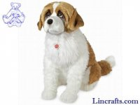 Soft Toy Dog, Saint Bernard by Teddy Hermann (70cm) 92798