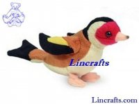 Soft Toy Bird, Finch by Teddy Hermann (12cm) 94112