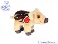 Soft Toy Wild Boar by Teddy Hermann (18cm) 90830