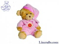 Soft Toy Pink Pyjama Bear by Teddy Hermann (28cm) 91315