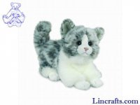 Soft Toy Cat Grey by Teddy Hermann (18cm) 90608