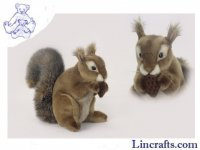Soft Toy Red Squirrel with Nut by Hansa (22cm)