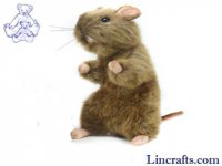 Soft Toy Rodent, Rat by Hansa (22cm)