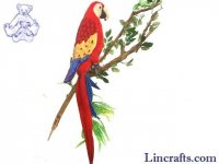 Soft Toy Bird, Red Scarlet Macaw by Hansa (32cm) 3067