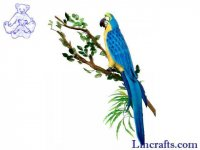 Soft Toy Bird, Blue Macaw, Parrot by Hansa (72cm)