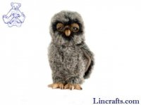 Soft Toy Bird of Prey, Tawny Owl by Hansa (20cm)