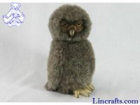 Soft Toy Bird of Prey, Tawny Owl by Hansa (27cm)
