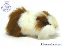 Soft Toy Brown & White Guinea Pig by Hansa (30cm)