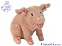 Soft Toy Pig by Hansa (20cm) 3380