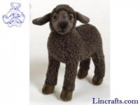 Soft Toy Black Sheep, Lamb by Hansa (28cm) 3454