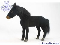 Soft Toy Horse Black by Hansa (34cm)