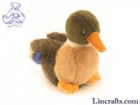 Soft Toy Water Bird, Mallard Duck by Hansa (11cm) 3570