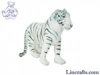Soft Toy Wildcat, White Tiger by Hansa by Hansa (55cm)