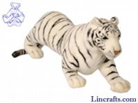 Soft Toy Wildcat, Tiger White by Hansa (73cm)