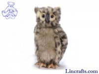 Soft Toy Bird of Prey, Owl by Hansa (25cm) 4136