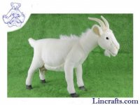 Soft Toy Goat White by Hansa (34cm)