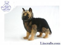 Soft Toy German Shepherd Pup Standing by Hansa 50cmL.
