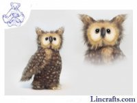 Soft Toy Bird of Prey, Owl with Jointed Head by Hansa (24cm) 4465