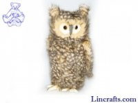 Soft Toy Bird of Prey, Owl Moving-Head by Hansa (34cm) 4466