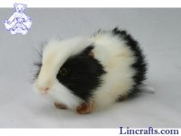 Soft Toy Guinea Pig. Black and White, by Hansa (19cm) 4592