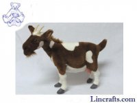 Soft Toy Goat Brown & White by Hansa (48cm)