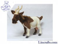 Soft Toy Brown & White Goat by Hansa (48cm)
