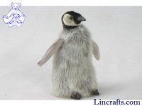 Soft Toy Bird, Emperor Penguin by Hansa (15cm) 4669