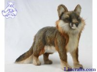 Soft Toy Grey Fox by Hansa (40cm)