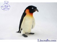 Soft Toy Bird, Emperor Penguin by Hansa (18cm) 4702