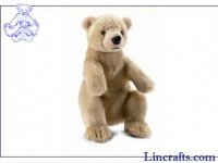 Soft Toy Beige Bear by Hansa (36cm)