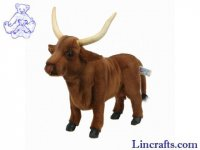 Soft Toy Cow, Highland Cattle by Hansa (38cm) 4737