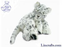 Soft Toy Wildcat, Sleeping Snow Leopard by Hansa (40cm) 4753