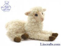Soft Toy Sheep, Lying Lamb White by Hansa (23cm)