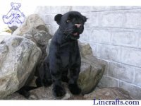 Soft Toy Wildcat, Panther by Hansa (57cm)