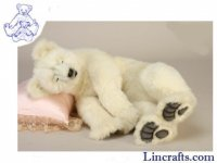 Soft Toy Polar Bear Sleeping by Hansa (70cmH.)