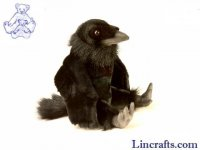 Soft Toy Bird, Raven by Hansa (25cm)