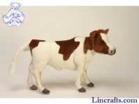 Soft Toy Brown & White Cow by Hansa (52cm)
