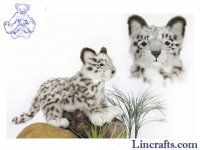 Soft Toy Snow Leopard by Hansa (42cm)