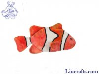 Soft Toy Fish Clownfish by Hansa (32cm) 5078