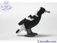 Soft Toy Bird, Australian Magpie by Hansa (14cm)