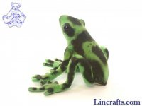 Soft Toy Poison Arrow Frog, Green by Hansa (17cm)