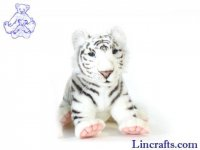 Soft Toy Wildcat, White Tiger by Hansa (38cm)