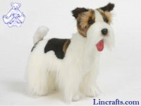 Soft Toy Dog, Wire Fox Terrier by Hansa (45cm)