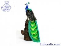 Soft Toy Bird, Peacock by Hansa (33cm) 5437
